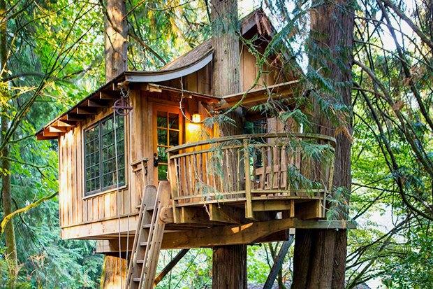 Как построить красивый дом на дереве